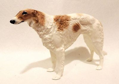 Russian Borzoi Spotted porcelain figurine Author's. Very RARE Limited edition!
