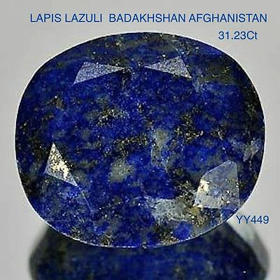 LAPIS LAZULI OVAL FACETTED BROAD CUT  31.23Ct  YY449