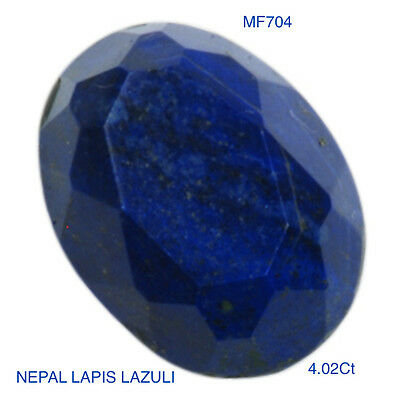 LAPIS LAZULI OVAL FACETTED NATURAL MINED STONE 4.02Ct  MF704