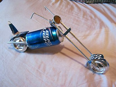 aluminum can BUD LIGHT can chopper motorcycle folk art can crafts,recycle