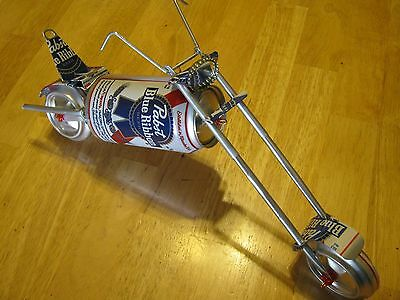aluminum can PBR can chopper motorcycle folk art can crafts,recycle