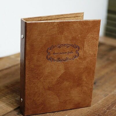 Retro Leather photo albums Self-Adhesive Albums 7 inch Total 80 side album