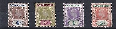 Cayman Islands 1907   S G 13 - 16  Set Of Four  To Five Shilling  M H Cat £300