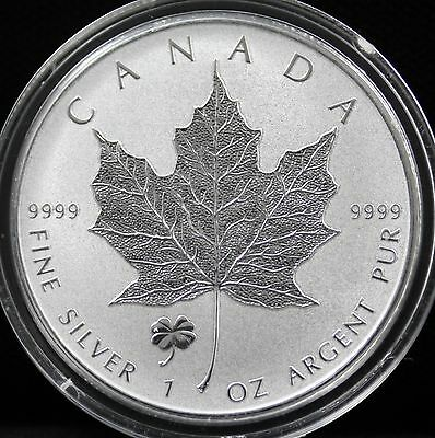 Canada  2016 Silver Maple 4-LEAF CLOVER  Privy Reverse Proof MINT CONDITION