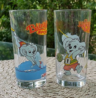 Vintage Blinky Bill Sports Collectable Promotional Nutella Glasses
