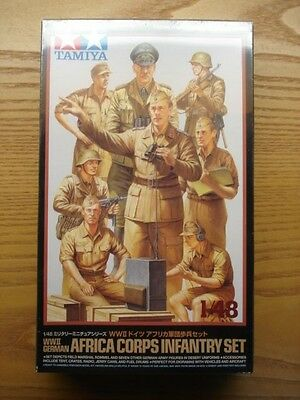 Tamiya 1/48 Scale Military Miniature WWII German Africa Corps New Shrinkwrapped