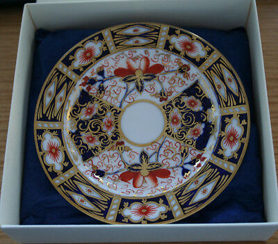 ROYAL CROWN DERBY.1904  IMARI 2451 BOXED PLATE 5 inch VERY  NICE