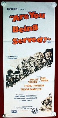 Vintage Original Are You Being Served  1977 Australian Daybill Movie Poster