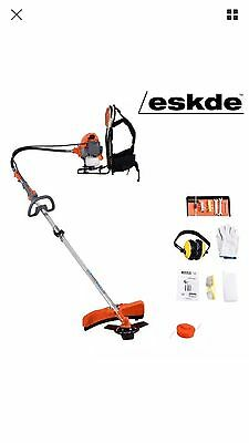 eSkde 52cc Petrol Backpack Brush Cutter and Strimmer 2 in 1 Garden Multi Tool