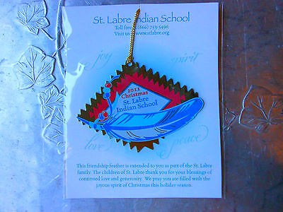 """Donation Gift: Christmas Ornament Dated 2011 Bookmark """"St. Labre Indian School"""""""