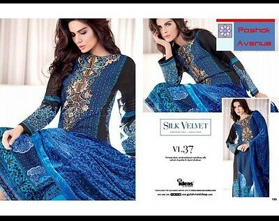 GUL AHMED 100% Original Winter Collection 2015 Unstitched Suit VL-37