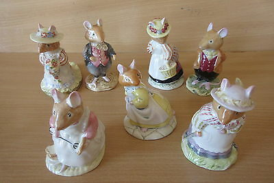 Royal Doulton Brambly Hedge Complete Collection Of 25 Mouse Figures