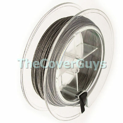 25 meters 120lb Stainless Steel 7 Strand Fishing Trace for Downriggers