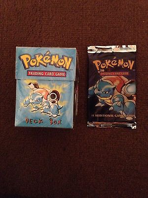 Blastoise Base Set Booster And Deck Box,Collector,Christmas Gifts 1999