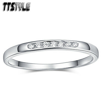TTstyle 1.5mm Width RHODIUM 925 Sterling Silver Wedding Band Ring Size 4.5-7 NEW