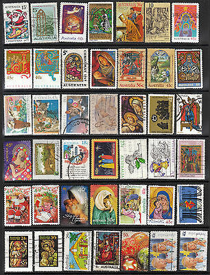 Australia CHRISTMAS 42 stamps, all different