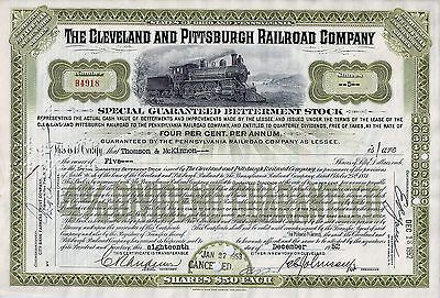 4% The Cleveland and Pittsburgh Railroad Company 1952 (5 Shares special stock)