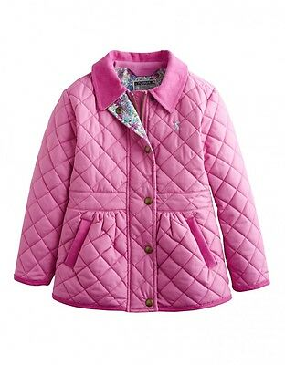 Joules Girls Jnr Jinty Quilted Jacket Wild Pink - Ages 6 & 9-10
