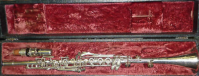 Vintage Silver plated metal clarinet