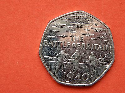 *Very Rare !!!*- And Collectable 2015 Battle Of Britain 50p Fifty Pence Coin....