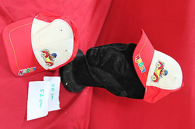 CASQUETTE   * OUI OUI  *  TAILLE 50 - 2/3 ans      BEIGE & ROUGE    neuf