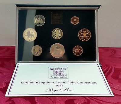 1983 Royal Mint Proof 8 Coin Set. First Pound Coin!