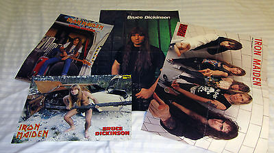 Iron maiden-a selection of posters and a private collection.