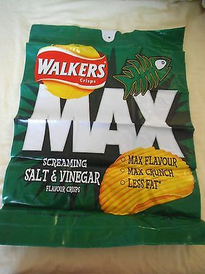 RARE - Walkers BLOW UP Large Bag of Crisps Inflatable Novelty Advertising