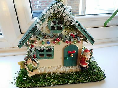 """"""" Christmas Cottage """" Fairy Garden Cottage - A One Off Item !!!!!!!!!!!!!!!!"""