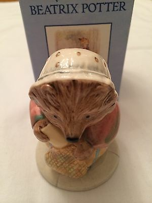 Royal Doulton New Beswick Mrs Tiggy Winkle Buys Provisions Boxed Rare Backstamp