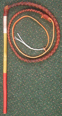 Budget Childs StockWhip 3 foot 4 Plait Red Hide - Brian Nemeth Design Stock Whip