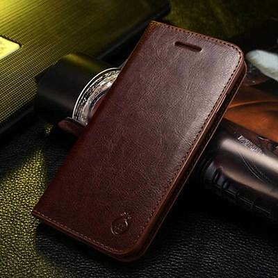 Genuine Leather Luxury Magnetic Wallet Flip Case Cover Holder For iPhone 7 #g