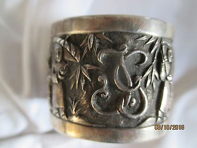 Chinese Export Silver Napkin Ring, Serviette, C 1900    MILLERS ANTIQUES