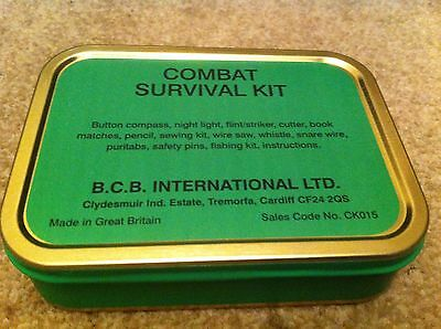 NEW / unused- BCB Combat Survival Kit Tin Cadets Scouts Military Army
