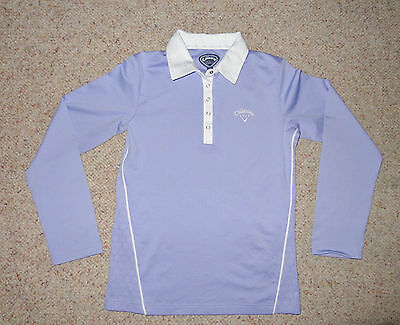 Ladies Callaway Golf Long Sleeve Polo Shirt - Size 8, Excellent Condition.