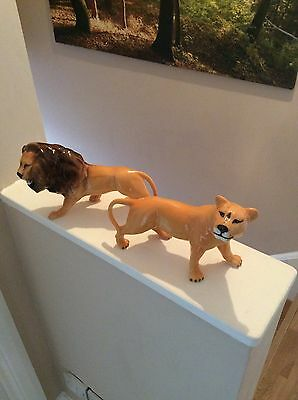 Beswick Lion And Lioness Stunning Examples
