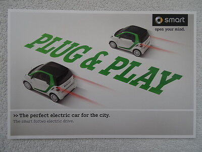 "Smart Fortwo Electric Drive Car Brochure 2011 - ""The perfect electric car...."""