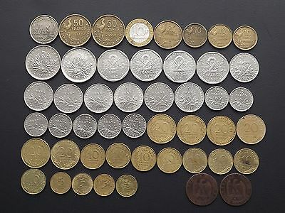 France Collection of 48 Coins