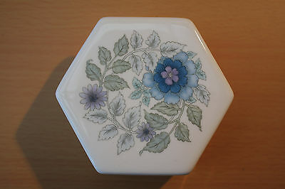 Wedgewood Clementine Hexagonal Trinket Box Bone China VGC