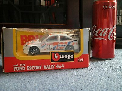 Bburago 1:43 Ford Escort RS Cosworth Gulf livery superb boxed made in Italy