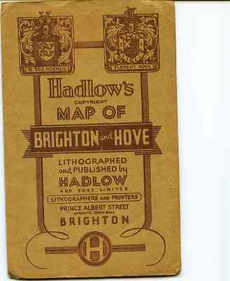 Map of Brighton& Hove by Hadlows Folded Paper used