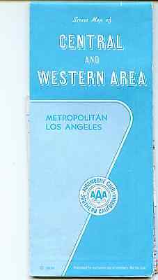 Street Map Los Angeles Central & Western Area A.A.A Members map