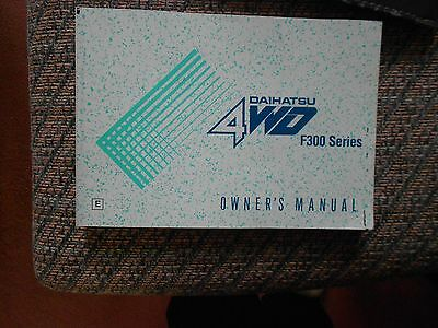 Diahatsu Sportrack 4Wd F300 Series Owner's Manual