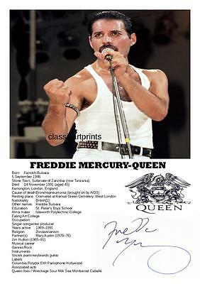 85. Queen Freddie Mercury  Signed A4  Photograph