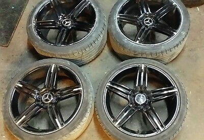 20 Inch Staggered Black Mercedes/Audi Wheels With Tyres