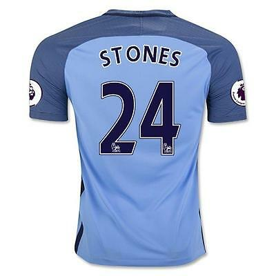Manchester City Home jersey Soccer STONES 24 in size L