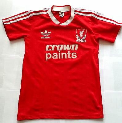 LIVERPOOL 1987 / 1988 CROWN PAINTS Vintage ADIDAS Football Shirt Jersey 1980s
