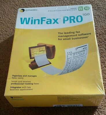 Symantec WinFax Pro 10.0 Fax Management software Brand New Factory Sealed