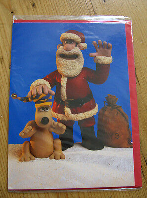 Wallace and Grommit Christmas Card rare 1996 Aardman Animation NEW Xmas