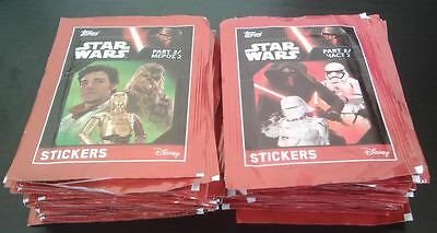 60 x Packets Star Wars Stickers Part 2 Topps Brand New Unopened